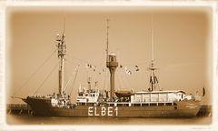 Anno dazumal :-) Das Feuerschiff Elbe I - Bürgermeister O`SWALD II