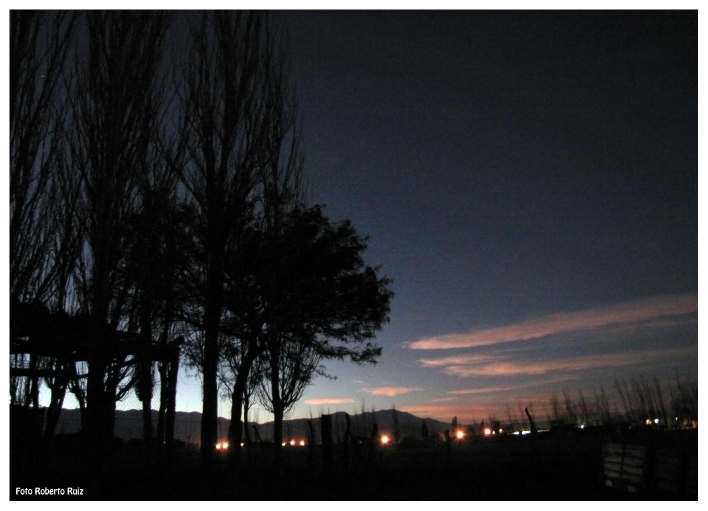 Anochecer de invierno en Jáchal