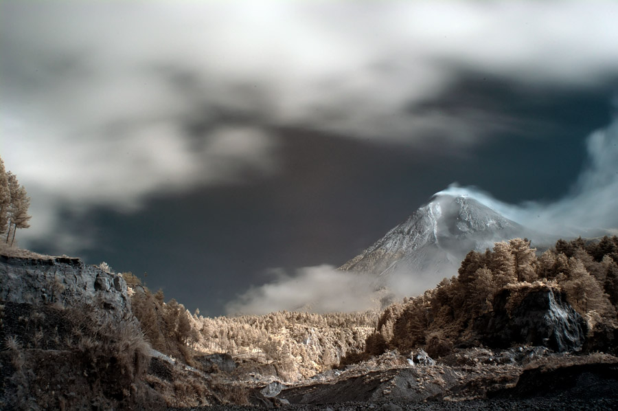 another side of mount merapi