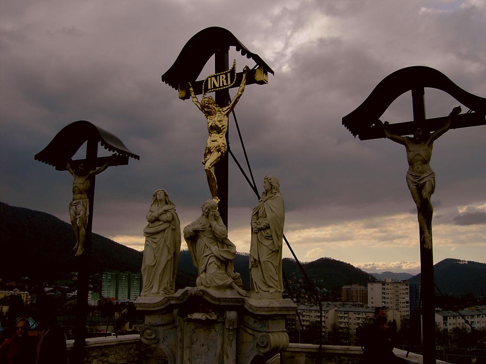 Anregung zum Nachdenken (Goldener Herrgott in Graz)