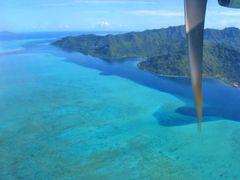 Anreise Bora Bora, hier Abflug von Huahine