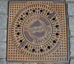 Ansbacher Kanaldeckel 1