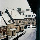 Ansicht der Runkler Altstadt im Winter -  Vue de la vieille ville de Runkel en hiver