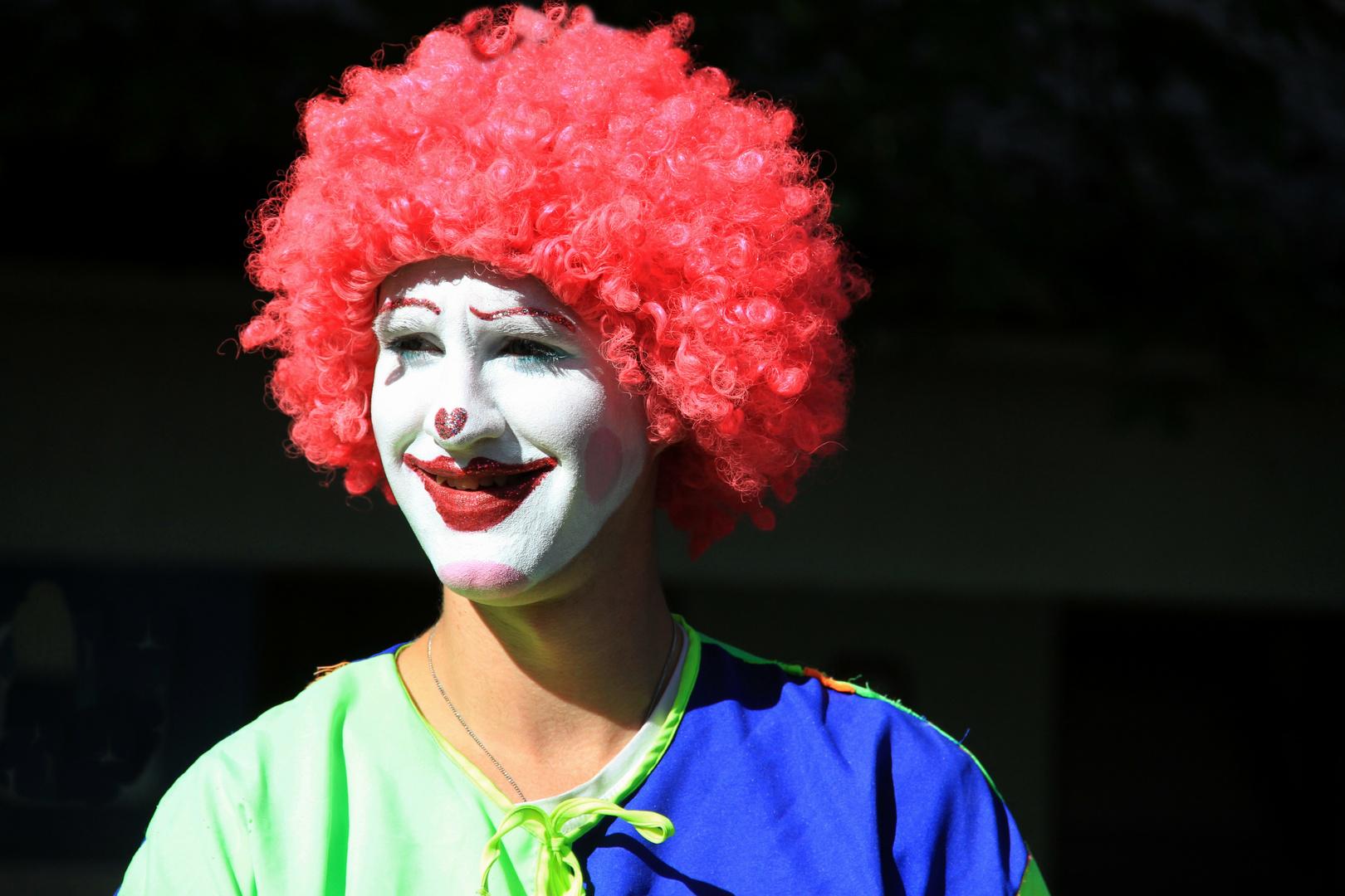 Ansicht eines Clowns