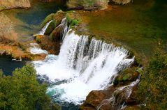 Ansichten der Krka-Wasserfälle III