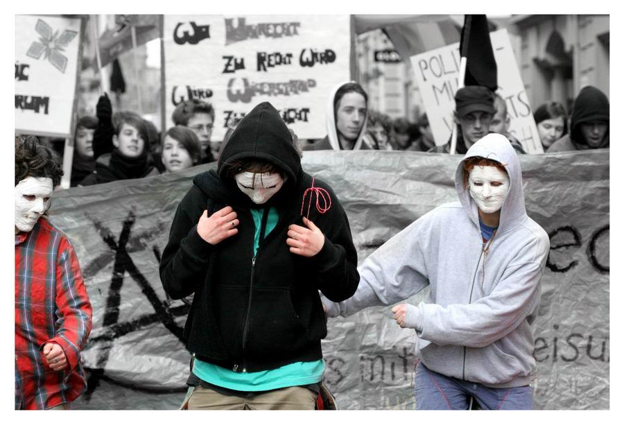 Anti-WEF Demo: Die Arbeiter