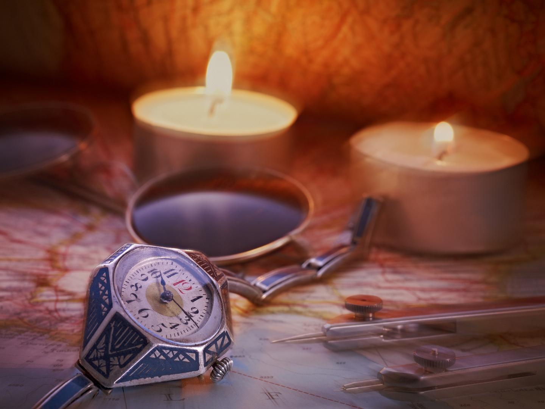 Antike Uhr auf Reise