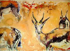 Antilopen im Busch
