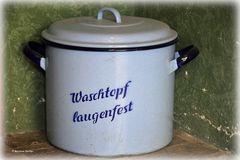 Antiquarische Waschmaschine