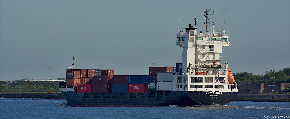 ANTJE RUSS / Container Ship / Nieuwe Waterweg / Rotterdam