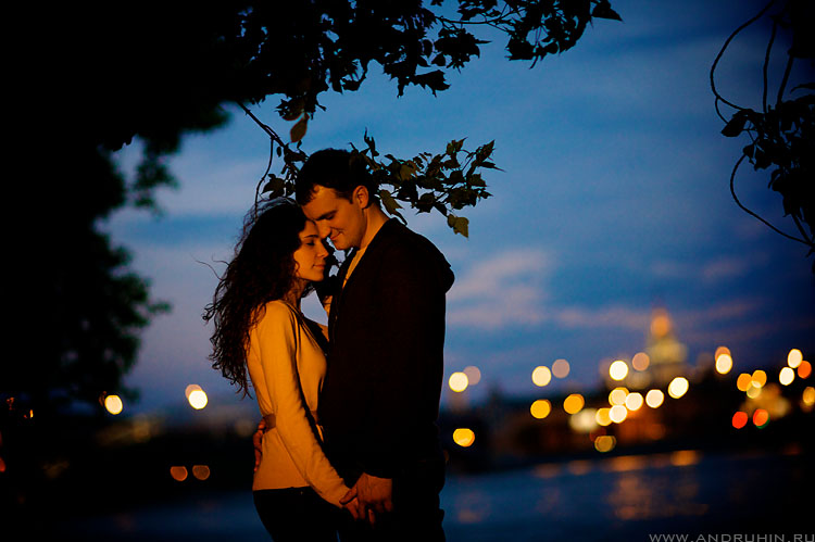 Anya + Michael. Moscow river