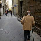 anziano a Firenze