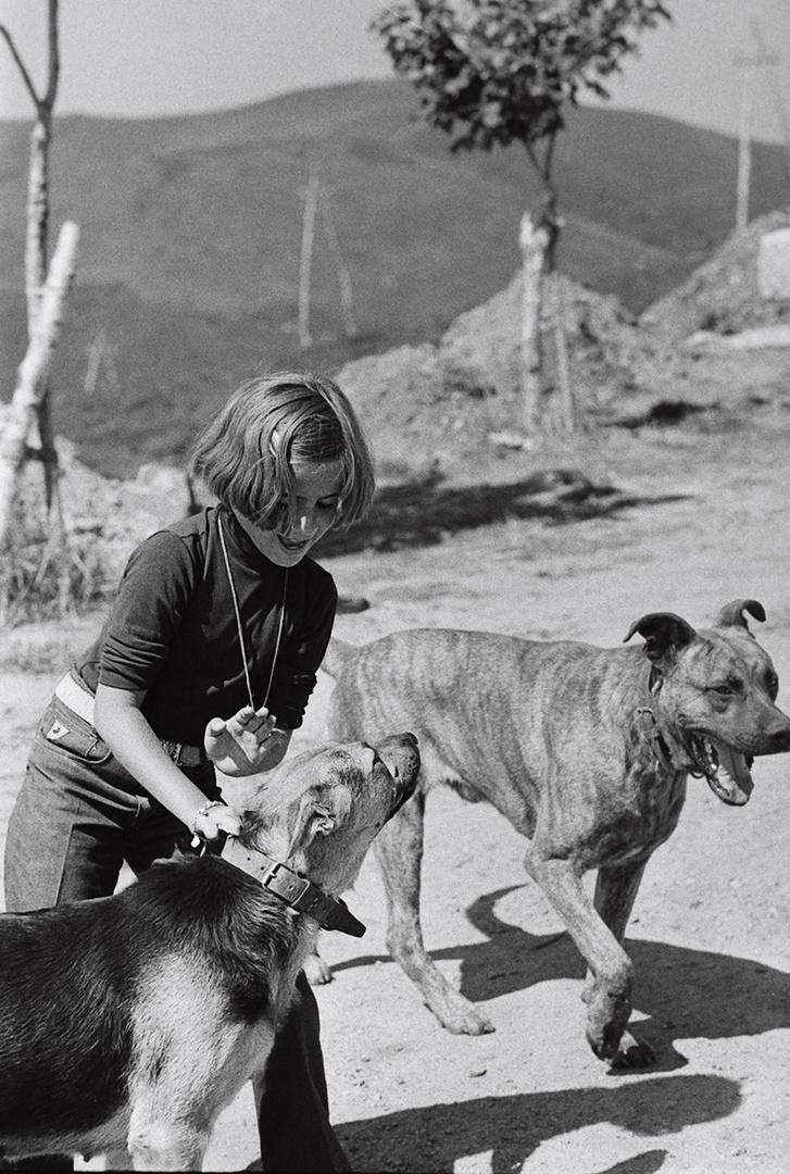 Año 1.973- La niña y los perros