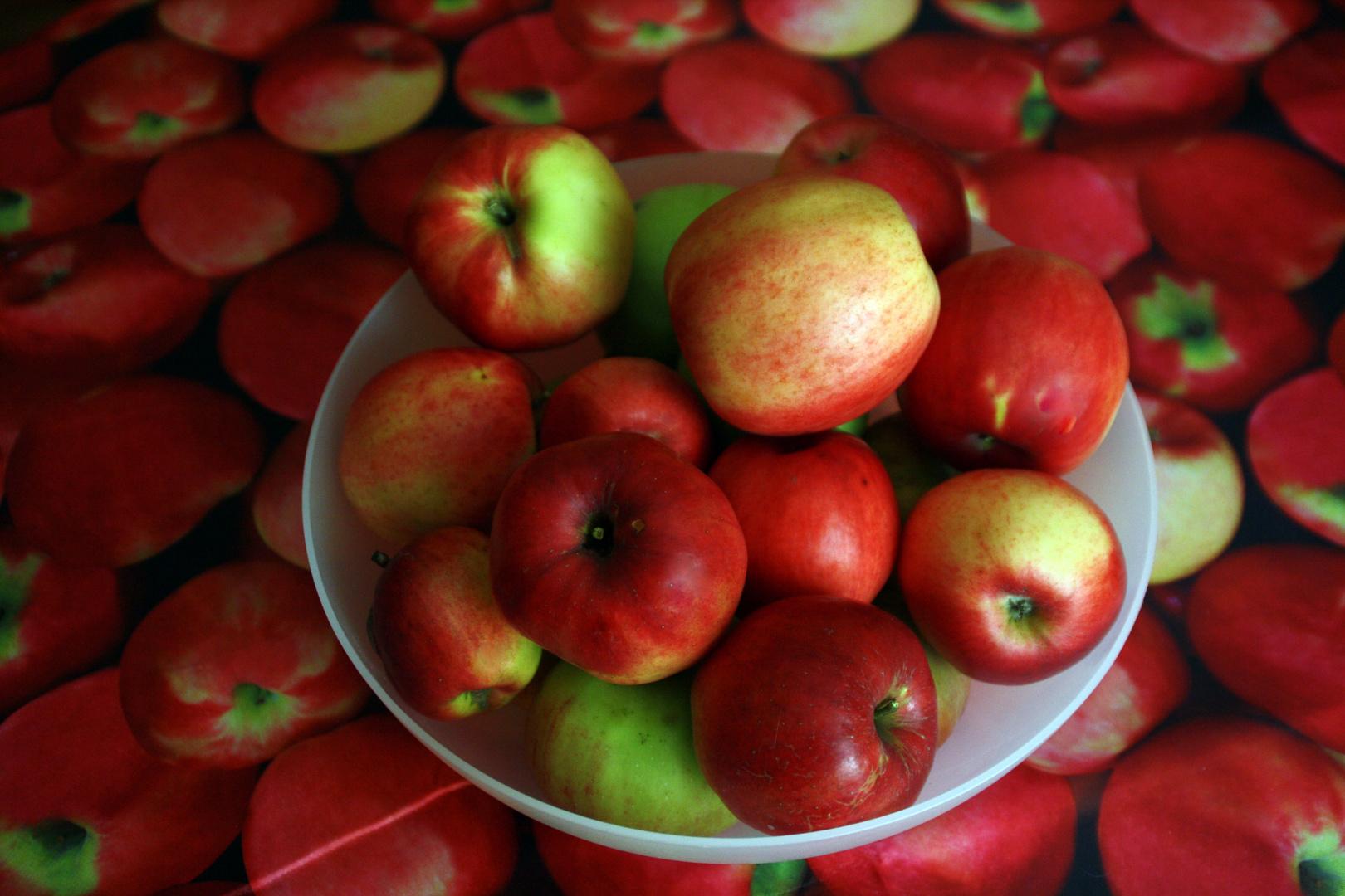 Apfel auf Apfel
