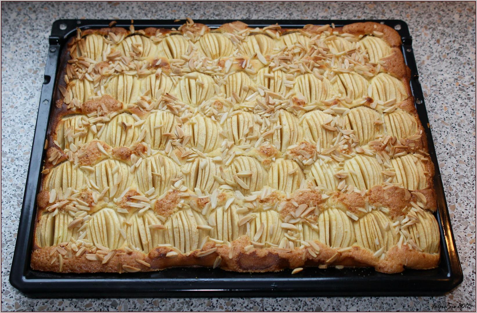 Apfel Marzipan Kuchen Foto Bild Stillleben Essen Trinken