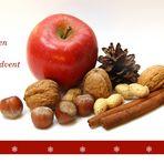 Apfel, Nuss und Mandelkern..