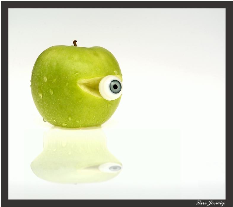 Apfelbirnen-Auge