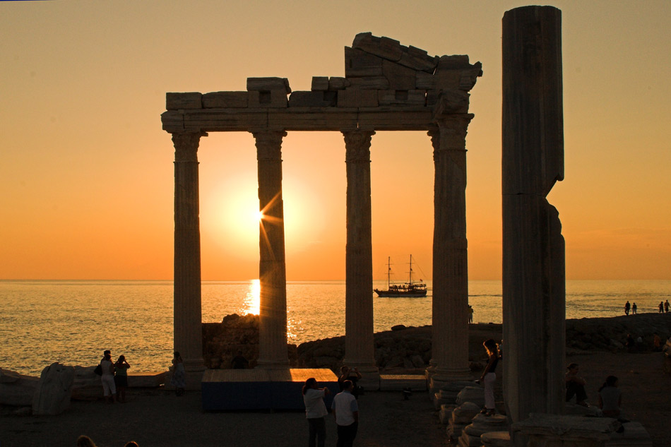 Apollon Tempel in Side, Türkei