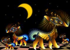 Apophysische Schopfhündchen in der Nacht ... :-)