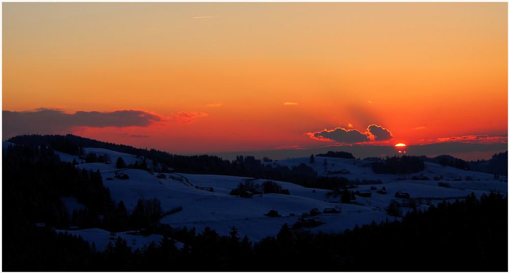 Appenzeller Sonnenuntergang