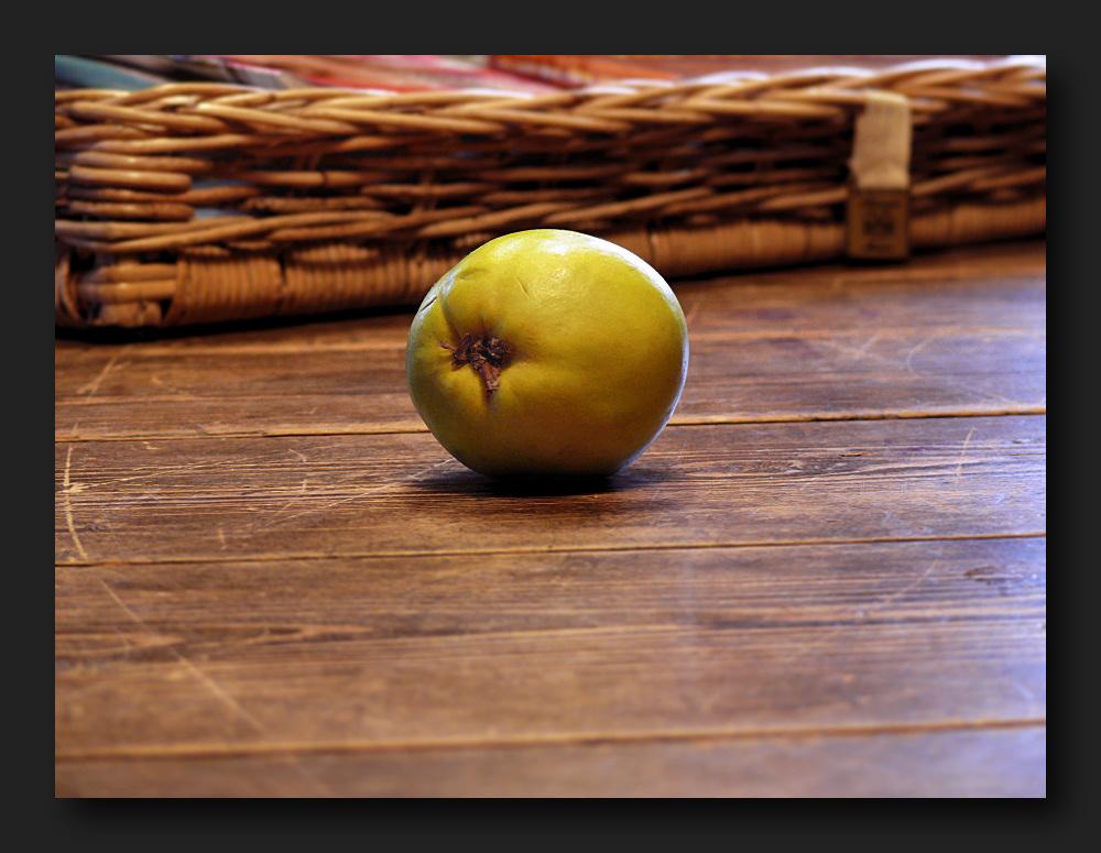 Apple on a table