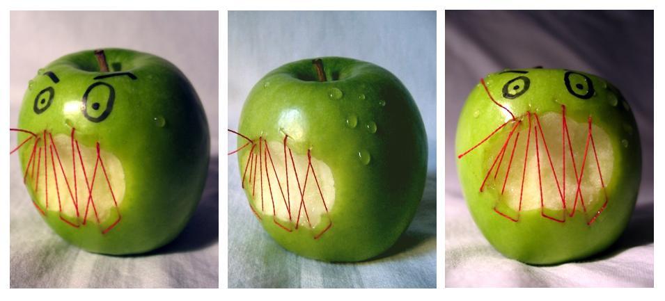 apples have feelings, too.
