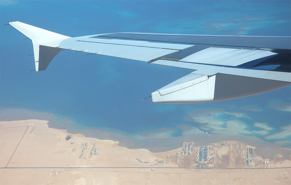 Approach into Hurghada Itl. Airport