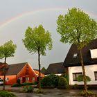 Aprilwetter mit Regenbogen