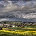 Aprilwolken über Pohlheim