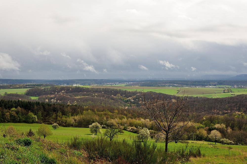 Aprlwetter über Kaiserslautern.