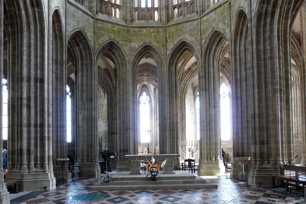 Apsis in der Kathedrale Mont St. Michel