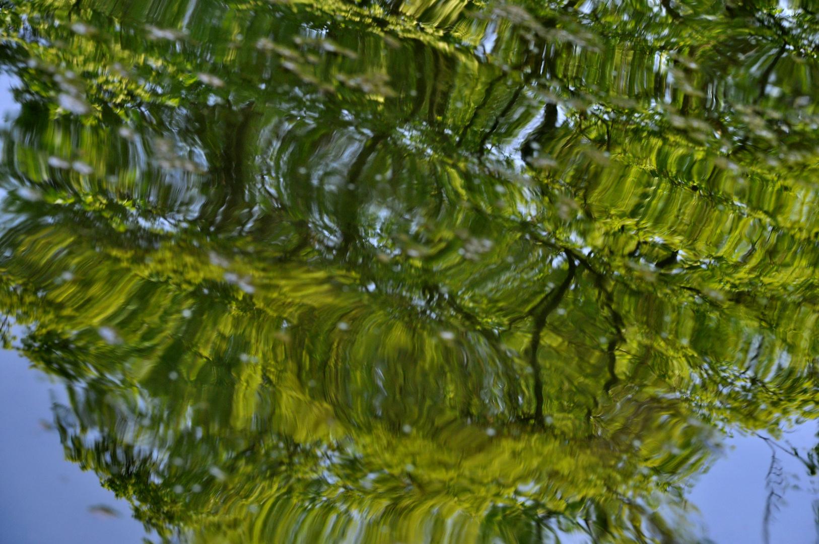 Aquarell in Grün