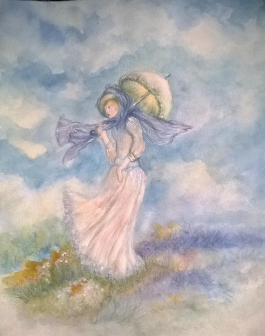 Aquarelle Hommage Claude Monet