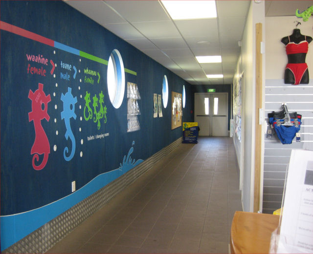 aquatic centre corridor