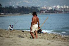 Arbeit am Strand - Alanya, Türkei