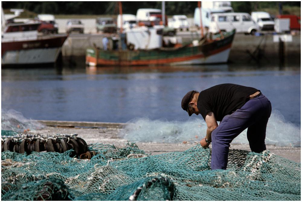 Arbeit eines Fischers