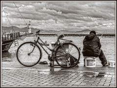Arbeit im Hafen