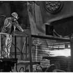 Arbeit im Stahlwerk