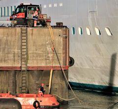 Arbeiter im Hafen: