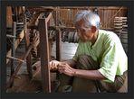 Arbeiter in der Lotosweberei