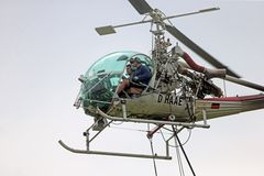 Arbeitsplatz Hubschrauber D-HAAE