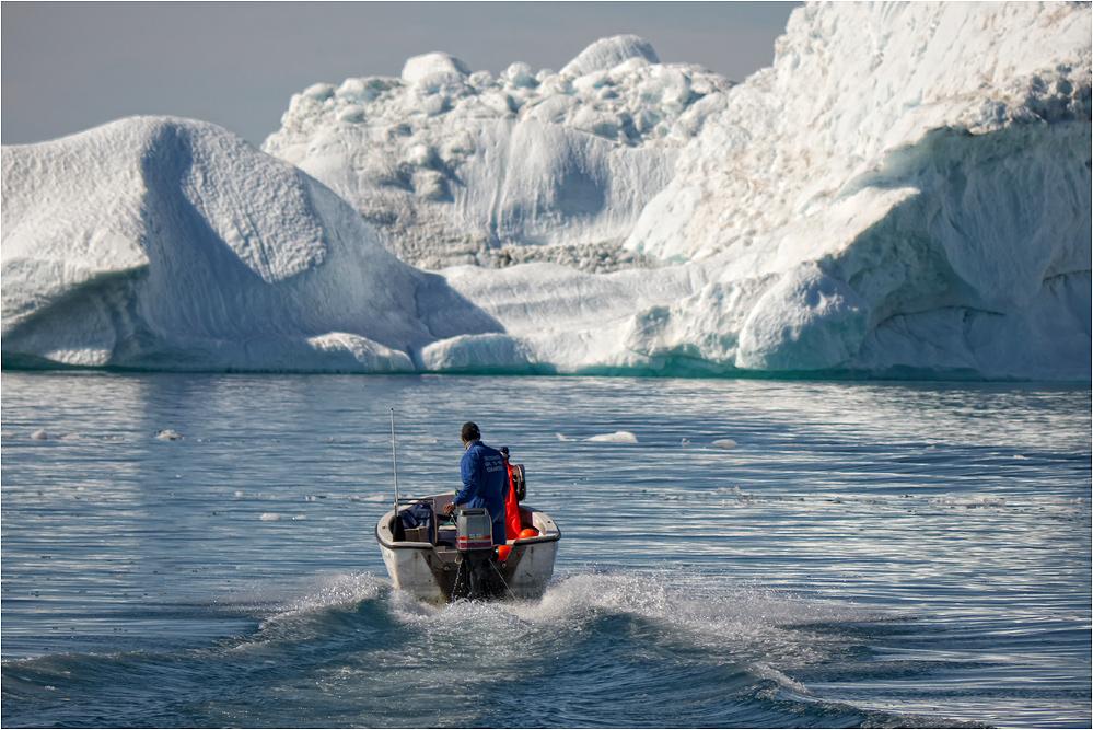 Arbeitsplatz im Eis...