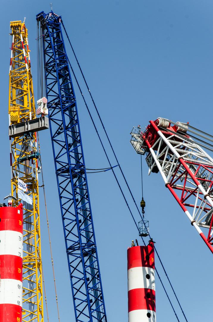 Arbeitsplatz in 60m Höhe