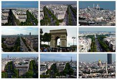 Arc de Triomphe - Blick auf Paris