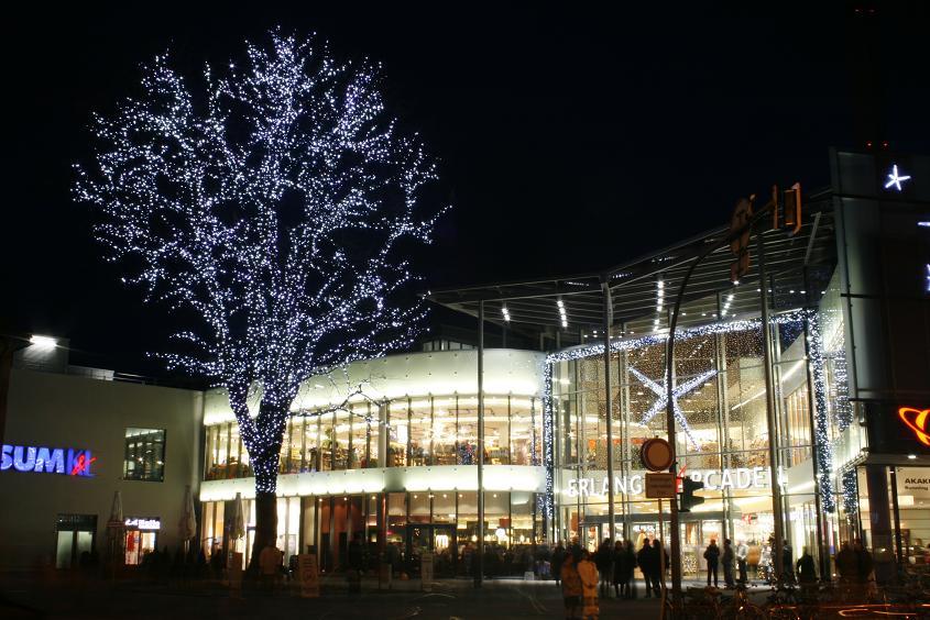 Arcaden Erlangen (nachts)