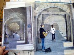 Arcades Place des Vosges, Paris: de la photo à la peinture - 01