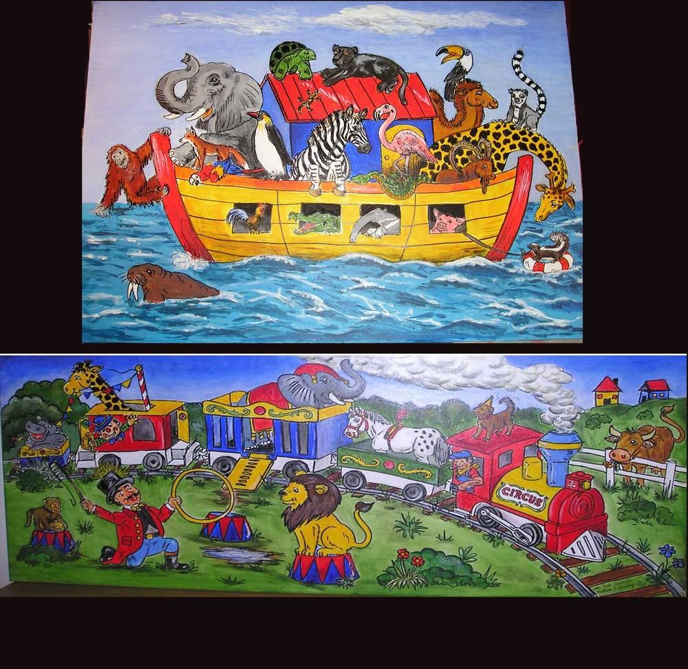 Arche Noah und Circus Zug