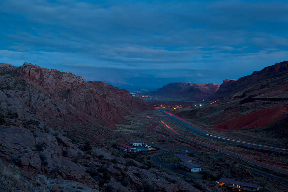 Arches NP - Blick auf Moab