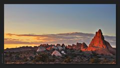 Arches sunset ...