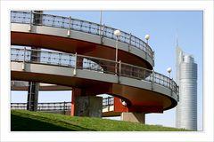 Architektur von der Donauinsel aus gesehen